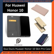 Huawei Honor 10 Case Flip Cover Dux Ducis Skin Pro Luxury Genuine Leather Magnetic Flip Cover Full Protective Casing