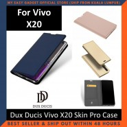 Vivo X20 Case Flip Cover Dux Ducis Skin Pro Luxury Genuine Leather Magnetic Flip Cover Full Protective Casing