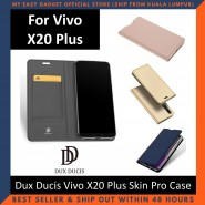 Vivo X20 Plus Case Flip Cover Dux Ducis Skin Pro Luxury Genuine Leather Magnetic Flip Cover Full Protective Casing