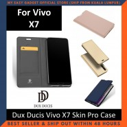 Vivo X7 Case Flip Cover Dux Ducis Skin Pro Luxury Genuine Leather Magnetic Flip Cover Full Protective Casing
