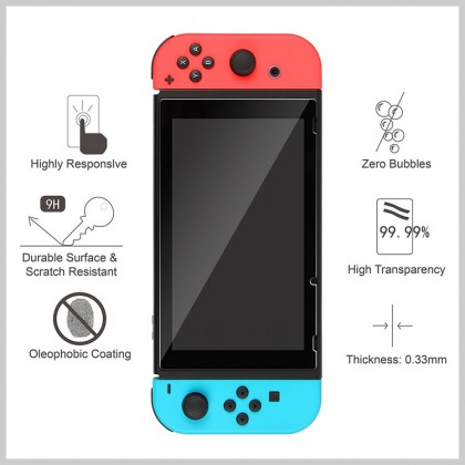 Nintendo Switch / Switch Lite 9H HD Clear High Screen Sensitivity And Comfortable Touch FeelTempered Glass