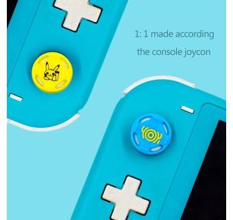 1 Pair Cute Mario Pikachu Splatoon Silicone Analog Thumb Grips Cap for Nintendo Switch / Switch Lite Joy-con