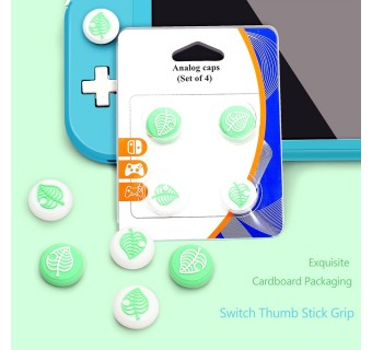 Silicone Analog Animal Crossing Theme Thumb Grips Cap for Nintendo Switch