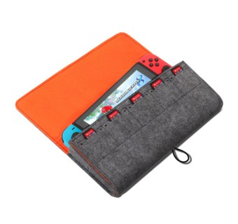 Storage Bag For Nintendos Switch Console Pika Case Durable Carrying Case For Nintendo Lite NS Switch Game Console Felt bag
