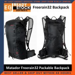 Matador Freerain32 Packable Backpack Waterproof 30D Cordura ripstop nylon 32-Liter Adjustable removable chest strap