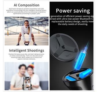 [Ready Stock] Apai Genie 360 Rotation Autoface & Object Tracking Holder smart shooting camera phone (Ship From Malaysia)