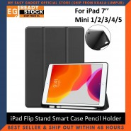 iPad Mini 1 2 3 4 5 iPad 7'' inch TPU PU Leather Flip Stand Smart Case With Pencil Holder