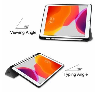 iPad Mini 1 2 3 4 5 iPad 7''inch TPU PU Leather Flip Stand Smart Case With Pencil Holder