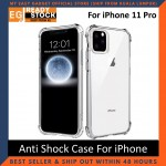 iPhone 11 / 11 Pro / Pro Max Anti Shock bumper case TPU Transparent Shockproof Full Protection Clear Cover