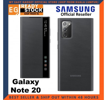 Original Samsung Galaxy Note 20 Clear View Cover Case S-View Flip Cover Samsung Note 20 Case