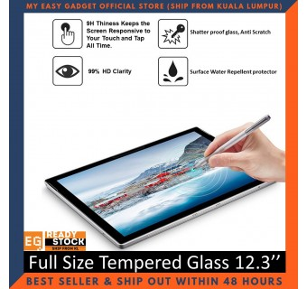 Microsoft New Surface Pro 4 5 6 7 2017 2018 2019 Full Size Tempered Glass Screen Protector 12.3''