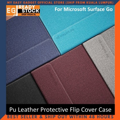 Microsoft Surface Go / Go 2 Flip Cover Case 10''inch Pu Leather Honeycomb Pattern Pc Hard Shell Protective Tablet Case