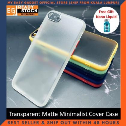 iPhone SE2 SE 2020 / iPhone 8 Case Matte Minimalist Cover iPhone Shockproof Translucent Casing Free Nano Liquid
