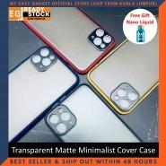 iPhone 11 Pro Max Case Matte Minimalist Cover iPhone Shockproof Translucent Casing Free Nano Liquid Screen Protector