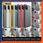 iPhone 11 Pro Max Case Matte Minimalist Cover iPhone Shockproof Translucent Casing