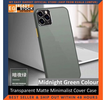 iPhone 11 Pro Max Case Matte Minimalist Cover iPhone Shockproof Translucent Casing