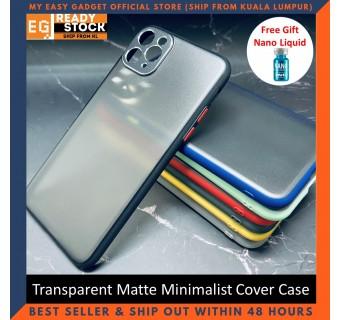 iPhone 11 Pro Case Matte Minimalist Cover iPhone Shockproof Translucent Casing Free Nano Liquid Screen Protector