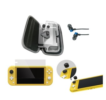 DOBE 12 In 1 Super Kit with Protective Bag Case Charging Base Kit Thumb Grips Earphones for Nintendo Switch Lite
