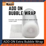 Extra Protection ADD ON Extra Bubble Wrap for Better Safety Packaging Pembalutan Bungkus Tambahan Gelembung