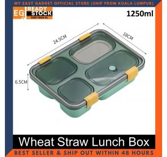 Lunch Box Wheat Straw Japanese Portable Lunch Bento 1250ml - 850ml