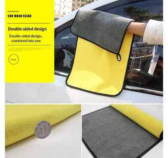 Super Absorbent Microfiber Cleaning Cloth Towel Double Layers Plush Ultra Thick Drying Towel Cloth Car Wash 40cm X 30cm