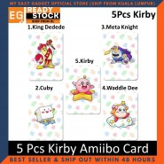 5Pcs Kirby Amiibo Nfc Tag Cards For Nintendo Switch / Wii U [ship From Kl Local Seller]