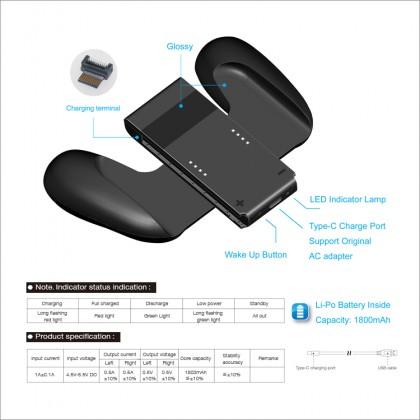 DOBE Nintendo Switch Charging Grip for Switch Joy-Con Comfort Grip Handle 1800mAh Built in Battery TNS-873