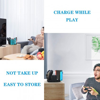 6 In 1 Charger Station For Nintendo Switch With 4 Joy-cons And 2 Pro Controllers Charging Docking Station XDL-NS03