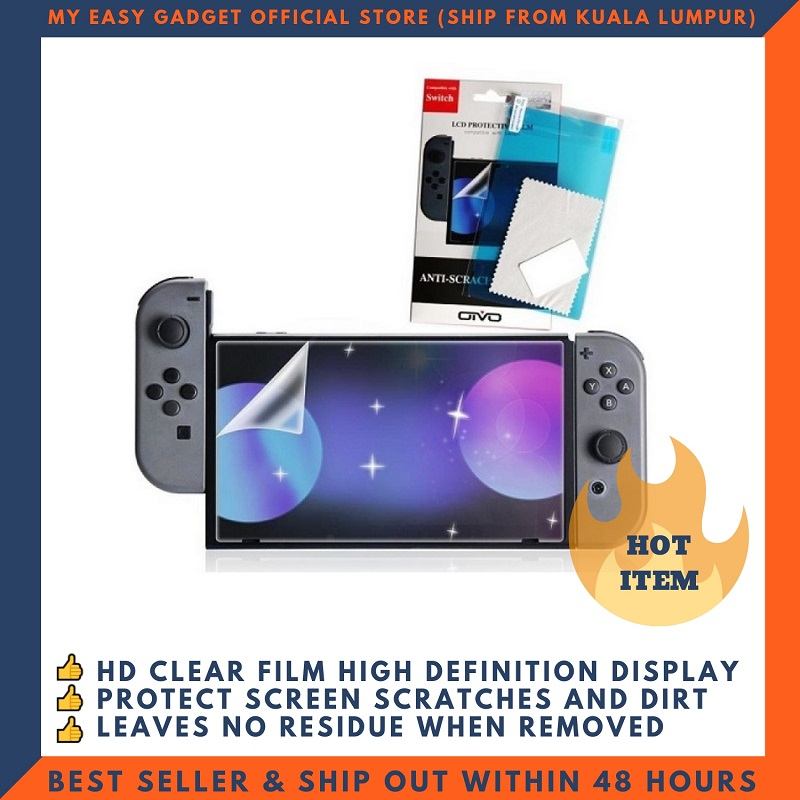 OIVO LCD Protective Film HD Screen Protector For Nintendo Switch