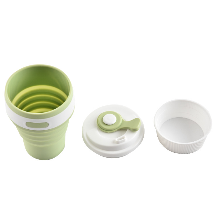 Silicone Portable Collapsible Coffee Cup 350ml 550ml Outdoor Travel Cup Food Grade Silicone