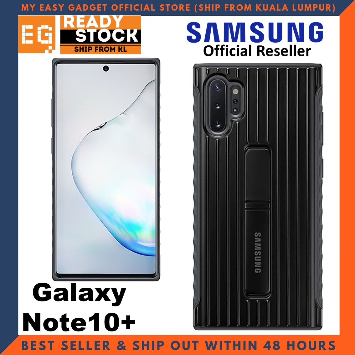 Original Samsung Note 10 Plus Case Protective Standing Cover Note 10 + Case