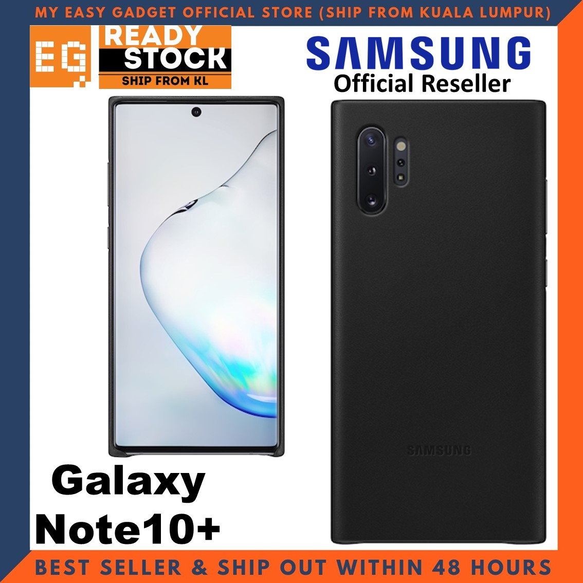 Original Samsung Note 10 Plus Case Leather Cover Note 10 + Case