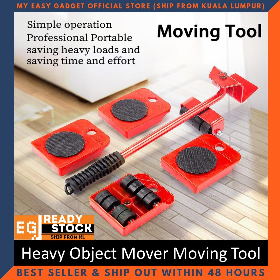Heavy Duty Lifter Furniture Lifter Easy Slider All Directions Mover Carrying Glider Tool Hand Moving Transport Set