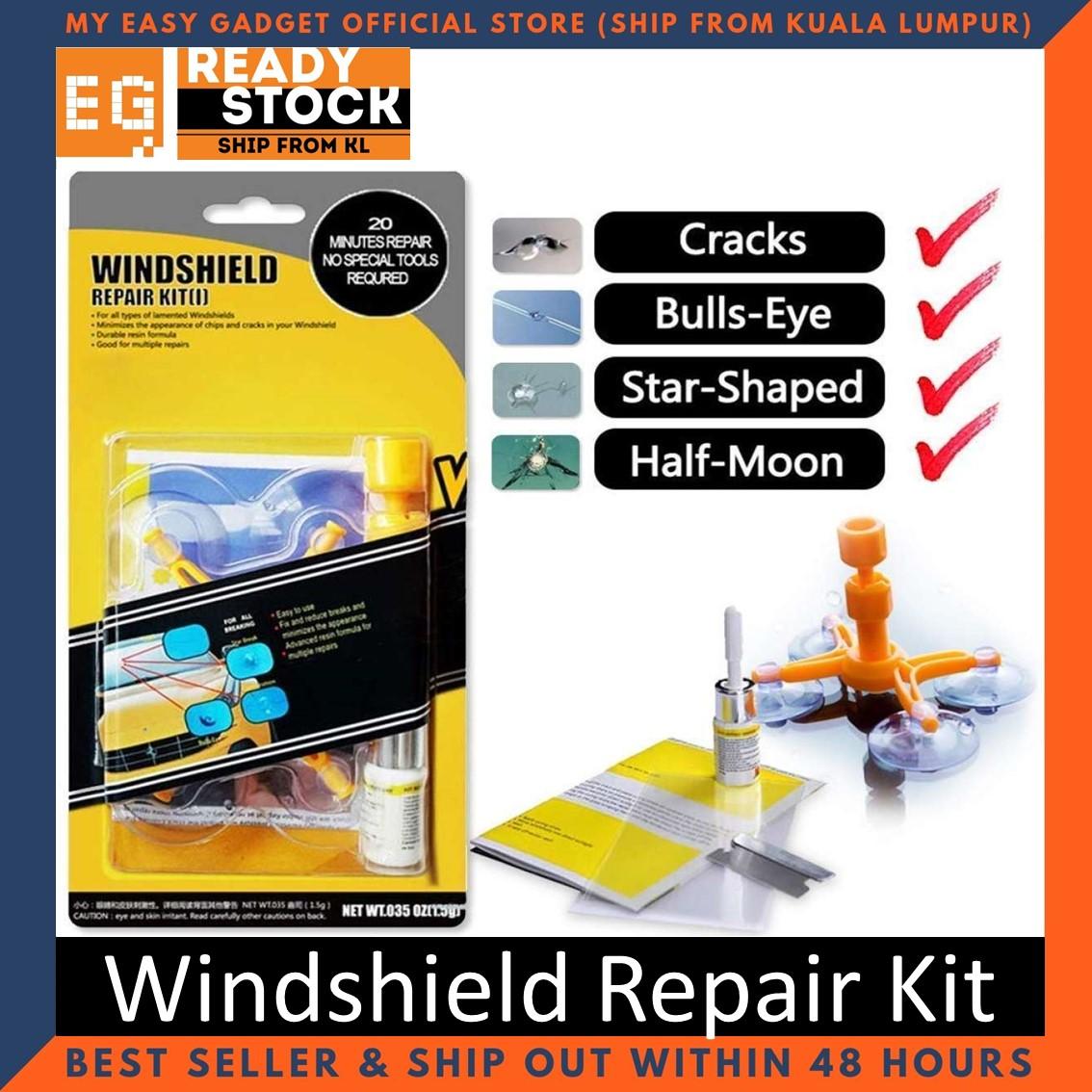 Kit Tampal Retak Cermin Kereta / Windshield repair kit - Ready Stock - Ship from Malaysia