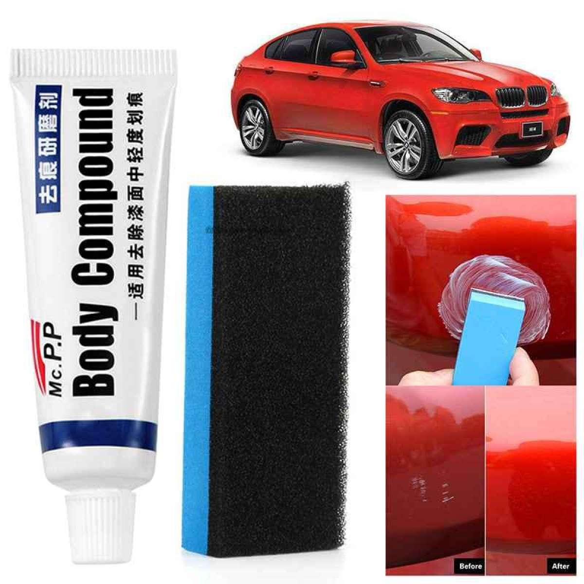 Car Scratch Repair Kits Auto Body Compound Polishing Grinding Paste Paint Care Set Practical Auto Accessories Paint Scratches Remover