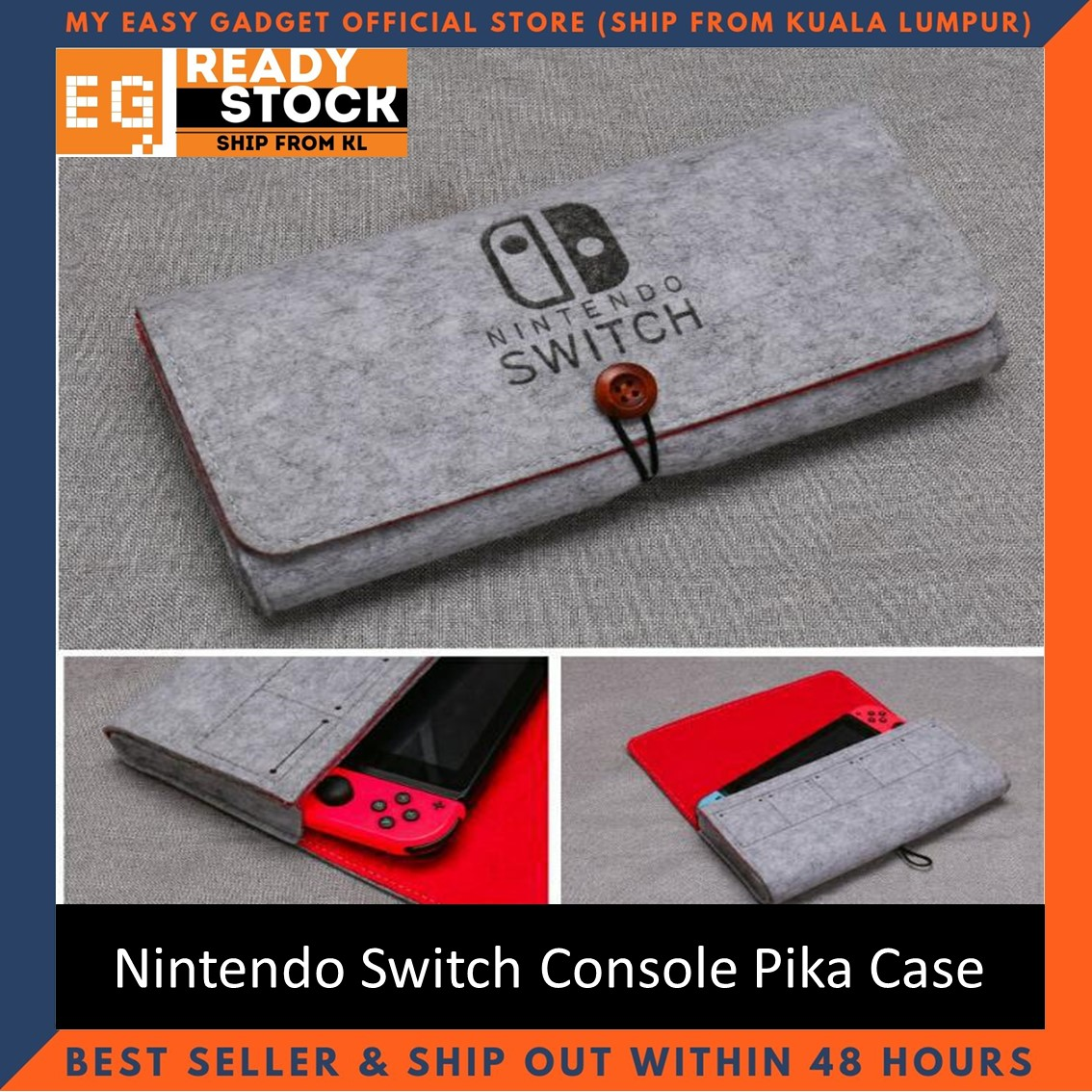Storage Bag For Nintendo Switch Console Pika Case Durable Carrying Case For Nintendo Lite NS Switch Game Console Felt bag