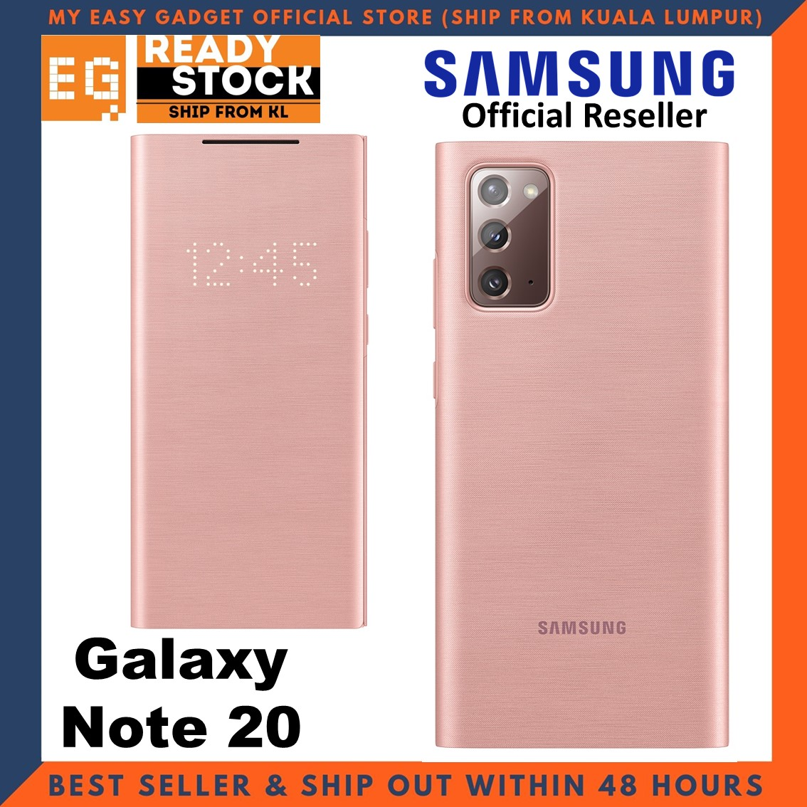 Original Samsung Galaxy Note 20 LED View Cover Case LED Wallet Cove Samsung Note 20 Case