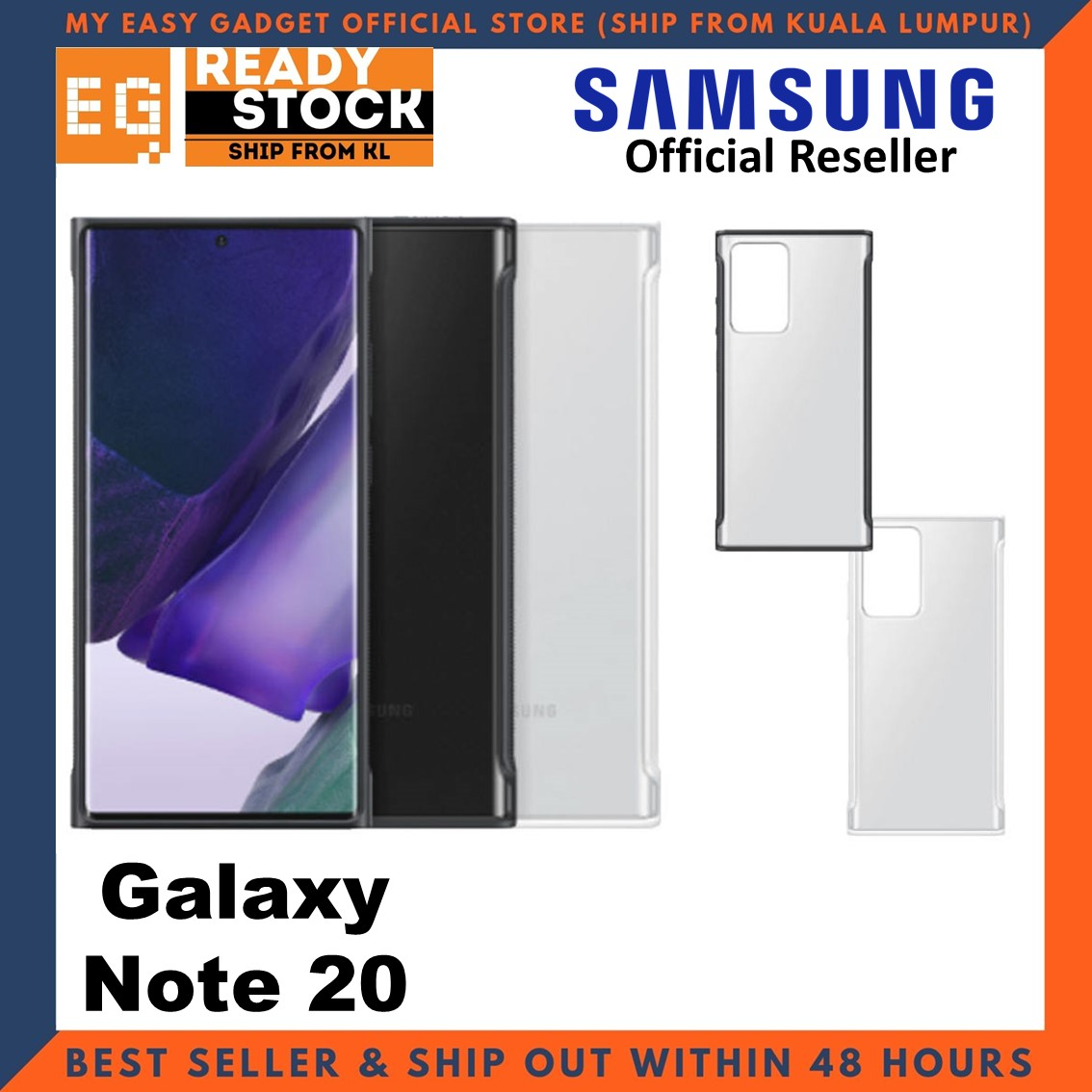 Original Samsung Galaxy Note 20 Clear Protective Case Cover Samsung Note 20 Case