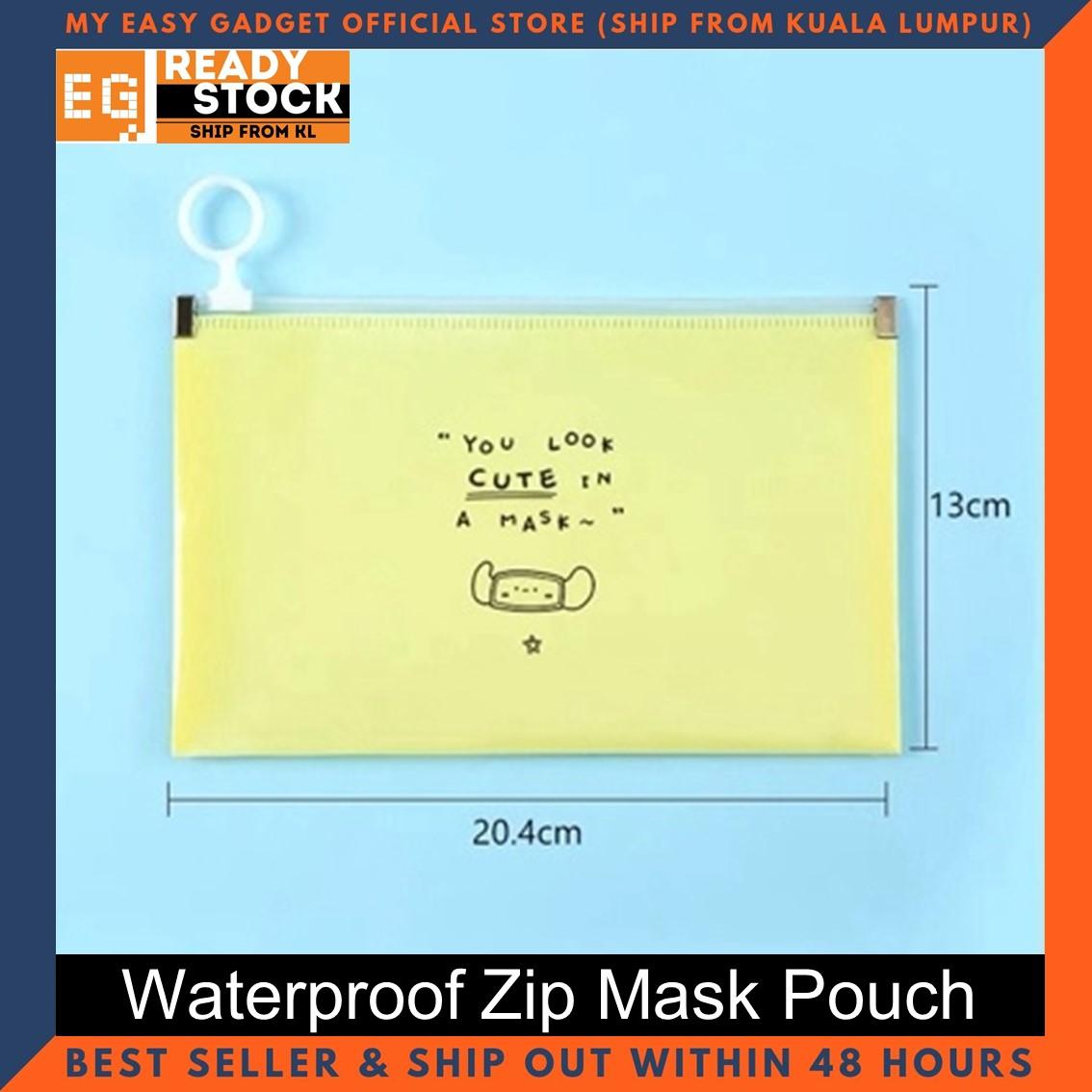 Mask Storage Bag Portable Moisture-proof and Dustproof Container Case disposable mask Storage box Organizer Zip Mask Pouch