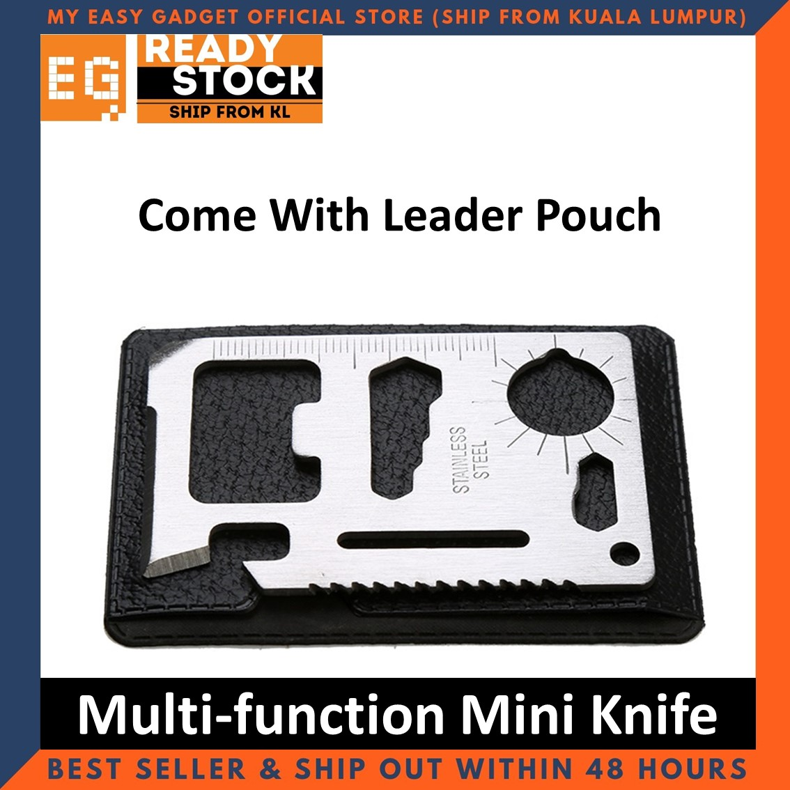 Outdoor Multi-function Pocket Survival Tool Mini Emergency Survival Credit Card Camping Tool 11