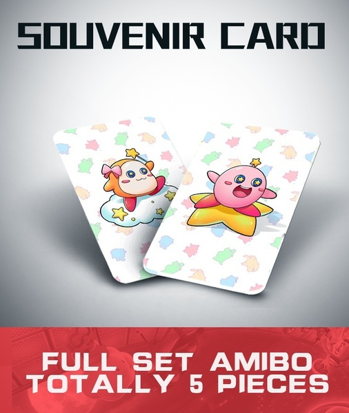 Kirby Amiibo NFC Tag Cards for Nintendo Switch / Switch lite / Wii U 5 Pcs [ship From Kl Local Seller]