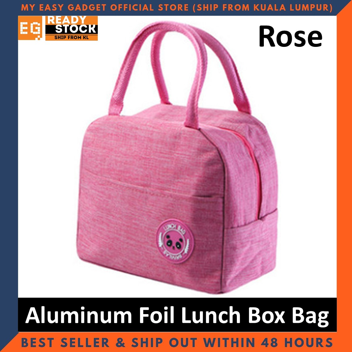 New Oxford Cloth Double Portable Thick Aluminum Foil Lunch Box Bag Lunch Bag Insulation Bag