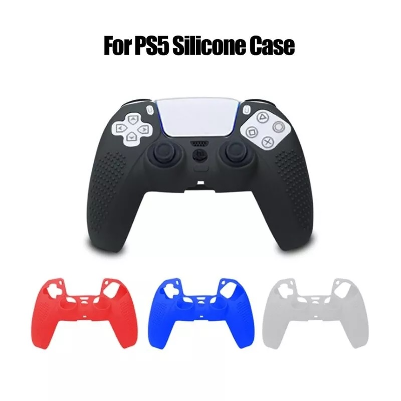 KJH PS5 Analog Controller Transparent Crystal Case Hard Shell Protective Cover Box Bag Hard Case Silicone Rubber Cover