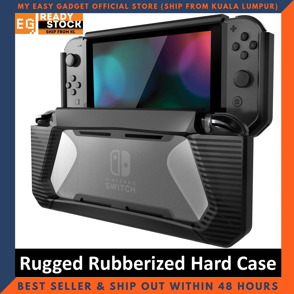 Hybrid Case Rugged Rubberized Snap on Hard Case Cover TPU for Nintendo Switch