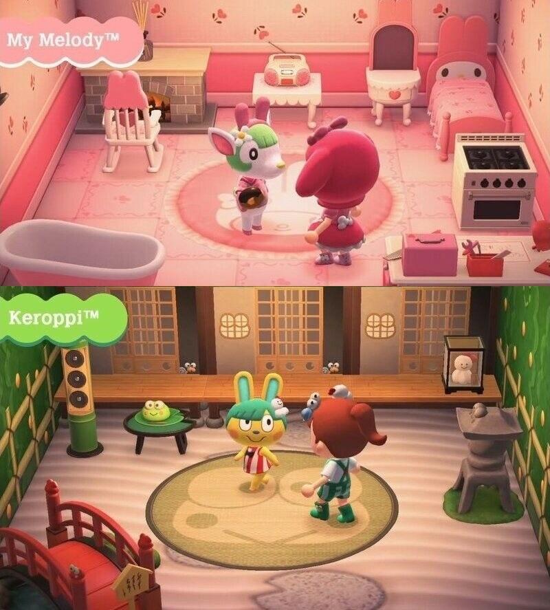 6Pcs Sanrio Animal Crossing x Sanrio Series Amiibo NFC Tags Cards For Nintendo Switch / Switch Lite
