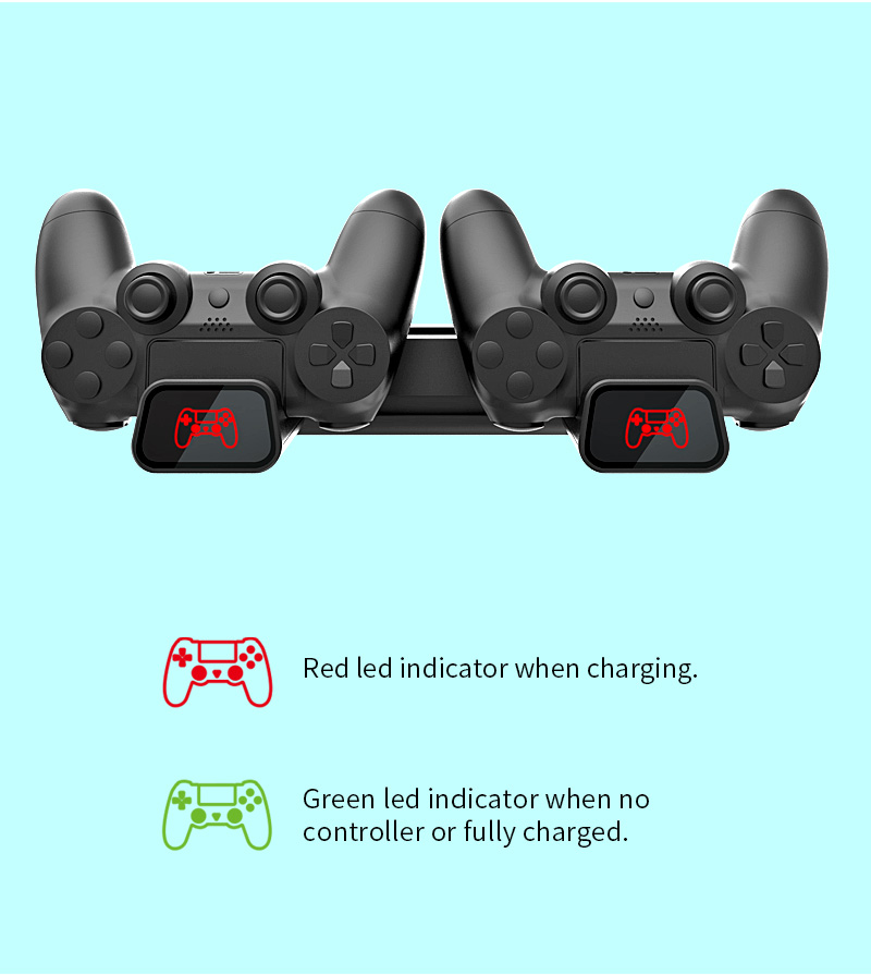 Dobe Multi-Functional Charging & Cooling Stand with Indicator Light Dual Charging Station for PS4 Slim Pro TP4-19076