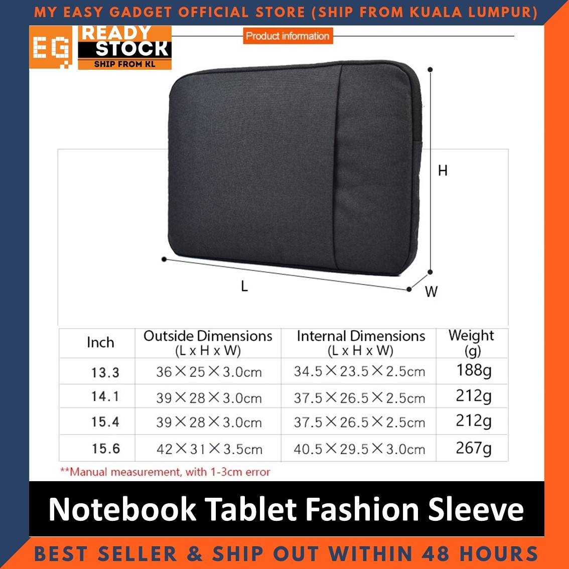 Fashion Sleeve 13 14 15 inch Waterproof Notebook Tablet Case Pouch Cover Universal Inner Protect Laptop Computer Bag